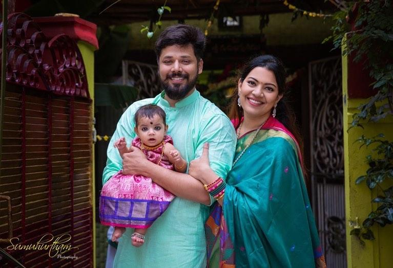 Geeta Madhuri Family Pictures