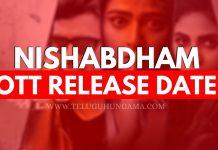 Nishabdham Movie OTT Release Date