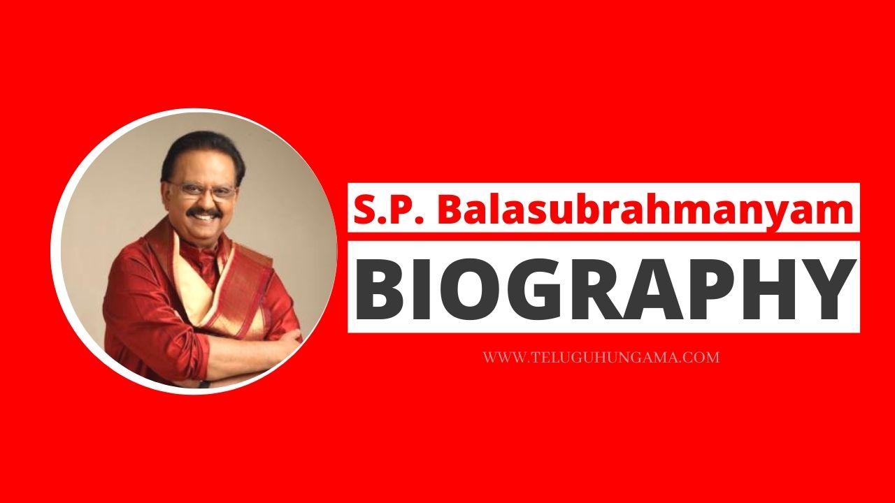 S.P. Balasubrahmanyam Biography