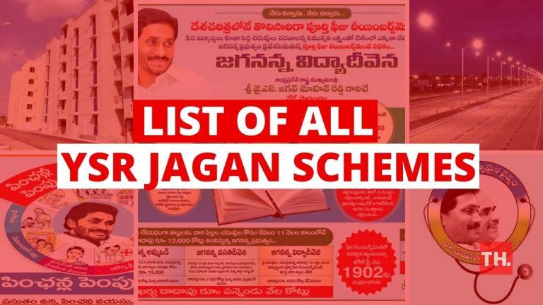 all ap Government schemes of YSR Jagan