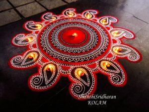 Sankranthi Diya rangoli designs 2021